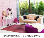 living room and room concept... | Shutterstock . vector #1078371947