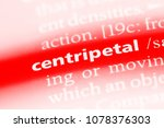 Small photo of centripetal word in a dictionary. centripetal concept