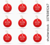 round sale tags with discounts... | Shutterstock .eps vector #1078385267