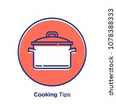 cooking related offset style... | Shutterstock .eps vector #1078388333