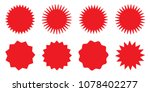blank red promo stickers set.... | Shutterstock .eps vector #1078402277