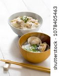 Small photo of Clam soup with clams and clam with rice