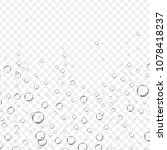 air bubbles set isolated on... | Shutterstock .eps vector #1078418237