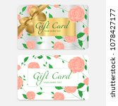 gift card  gift coupon  ...   Shutterstock .eps vector #1078427177