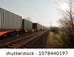 Cargo containers at countryside ...