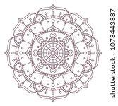 circular intricate mandala...   Shutterstock .eps vector #1078443887