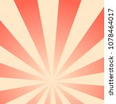 sun rays vintage background ... | Shutterstock .eps vector #1078464017