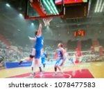 blurred background. basketball...   Shutterstock . vector #1078477583