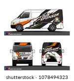 cargo van graphic vector....   Shutterstock .eps vector #1078494323