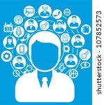 social network   Shutterstock .eps vector #107852573
