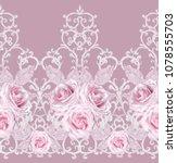 seamless pattern. decorative... | Shutterstock . vector #1078555703