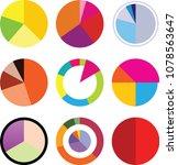 infographic elements. pie... | Shutterstock .eps vector #1078563647