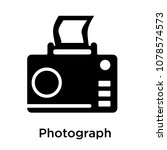 photograph icon isolated on... | Shutterstock .eps vector #1078574573