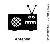 antenna icon isolated on white... | Shutterstock .eps vector #1078574633
