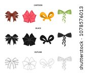 bow  ribbon  decoration  and... | Shutterstock .eps vector #1078576013