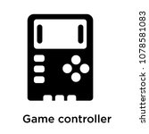 game controller icon isolated... | Shutterstock .eps vector #1078581083