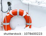 lifebuoy ring on white boat in... | Shutterstock . vector #1078600223