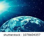 earth from space. best internet ...   Shutterstock . vector #1078604357