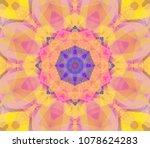 beautiful kaleidoscope orange...   Shutterstock . vector #1078624283