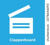 clapperboard icon isolated on... | Shutterstock .eps vector #1078646093