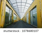 old abandoned warehouse hall ... | Shutterstock . vector #1078680107