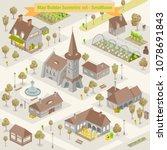 map builder isometric set in... | Shutterstock .eps vector #1078691843