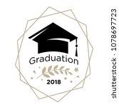 symbols of graduation. logo for ...   Shutterstock .eps vector #1078697723
