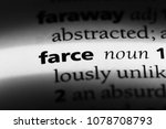 Small photo of farce word in a dictionary. farce concept