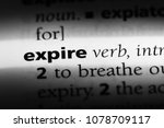 expire word in a dictionary.... | Shutterstock . vector #1078709117