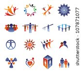 collection set of icons and... | Shutterstock .eps vector #107871077