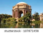 Famous San Francisco landmark - Palace of Fine Arts - stock photo