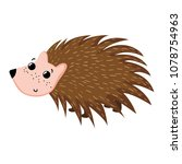 adorable porcupine wild cute... | Shutterstock .eps vector #1078754963