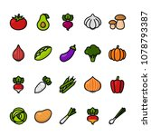 color line icon set of...   Shutterstock .eps vector #1078793387