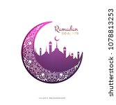 ramadan vector background | Shutterstock .eps vector #1078813253