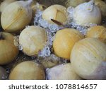 roasted coconut in cooler box ... | Shutterstock . vector #1078814657