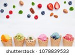 cones and colorful various... | Shutterstock . vector #1078839533