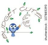 budget cuts euro twig text... | Shutterstock . vector #107885393