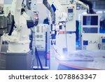 automatic welding robot in a... | Shutterstock . vector #1078863347