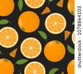 seamless pattern with oranges...   Shutterstock .eps vector #1078864103