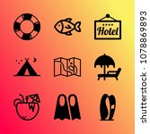 vector icon set about travel... | Shutterstock .eps vector #1078869893