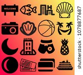 vector icon set about travel... | Shutterstock .eps vector #1078877687