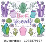 do it youself cartoons concept | Shutterstock .eps vector #1078879937
