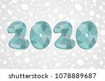 2020 polygonal symbol. happy... | Shutterstock .eps vector #1078889687
