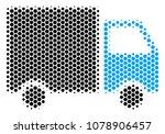 halftone hexagon shipment van... | Shutterstock .eps vector #1078906457