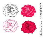 rose icon symbol isolated for... | Shutterstock .eps vector #1078921787