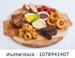 snacks to beer with sauces | Shutterstock . vector #1078941407
