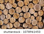 background of firewood  wood... | Shutterstock . vector #1078961453
