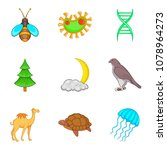 eternal wildlife icons set.... | Shutterstock .eps vector #1078964273