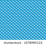 seamless background with wave. | Shutterstock .eps vector #1078985123