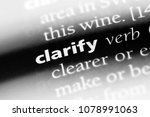 Small photo of clarify word in a dictionary. clarify concept